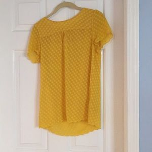 Cute yellow blouse from Anthropologie